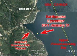 Robbinston Earthquake 2011 Jan 31
